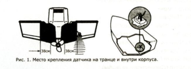 датчик эхолота установка в алюминиевой лодке